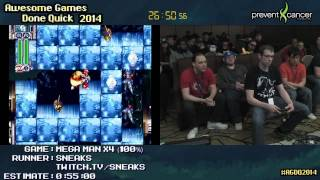 Mega Man X4 SPEED RUN :: 100% in 0:43:31 [GCN] Live by Sneaks #AGDQ 2014