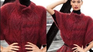 #15 Cable Front Capelet, Vogue Knitting Winter 2011/12