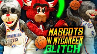 NBA 2K MASCOTS MyCareer GLITCH.. Mascots Drop 100+ Points ON THE LAKERS!