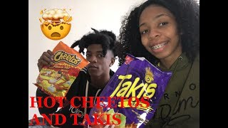HOT CHEETOS AND TAKIS CHALLENGE !