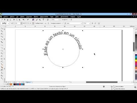 Curso Introducción a CorelDraw X6 - 55 Adaptar Texto a Trayecto y Rellenar con Texto