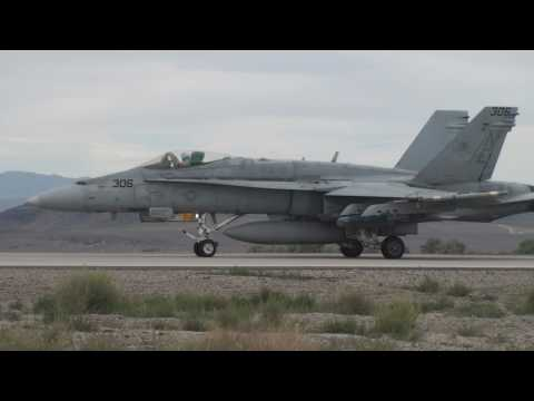 Hornet Launch and Recovery at NAS Fallon Video