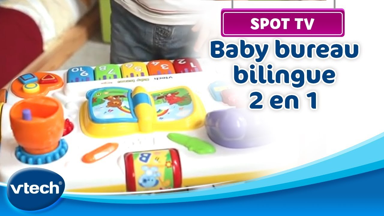 Vtech baby bureau bilingue 2 en 1 au meilleur prix sur - Table jardin d eveil bilingue chicco reims ...