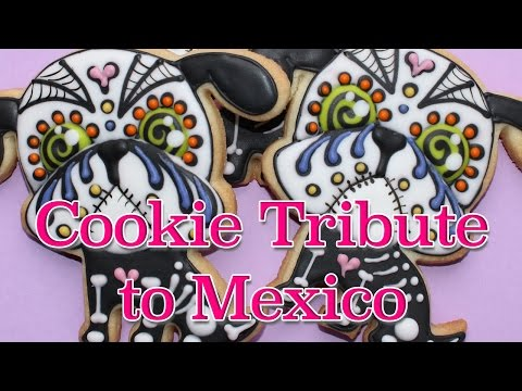How to make a day of the dead cookie - Dia de los muertos cookie