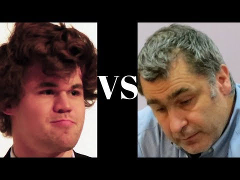 Amazing Chess Game : Magnus Carlsen vs Vassily Ivanchuk - Bilbao - Nimzo-Indian Defense (E21)