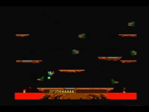 Joust (Arcade) Gameplay