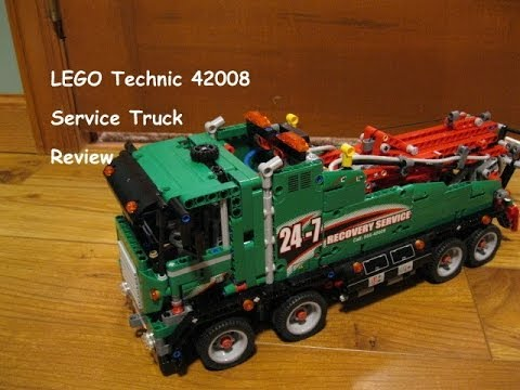 LEGO 42008 Technic Service Truck Review Product Demonstration