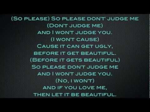 Chris Brown - Please Don't Judge Me Lyrics video