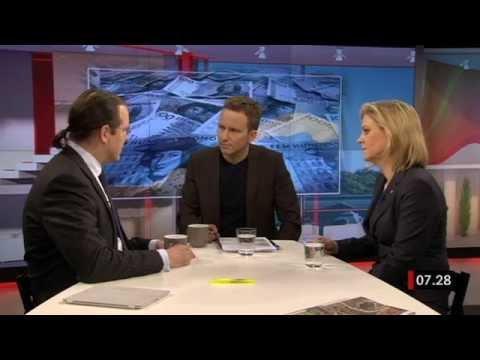 Anders Borg (M) och Magdalena Andersson (S) debatterar ekonomin i april 2013