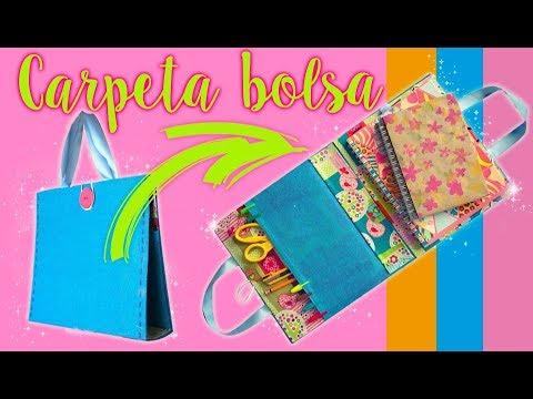 Carpeta de Tela que se hace Bolsa :: regreso a Clases DIY Chuladas Creativas