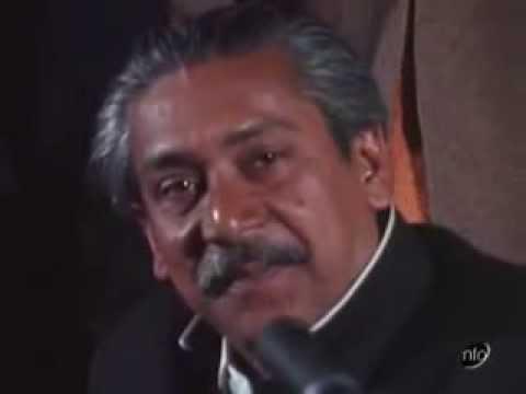 Bangabandhu Sheikh Mujibur Rahman at a press conference in London...