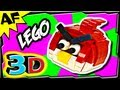 3D RED BIRD - Lego Angry Birds Animated Review with Building Instructions