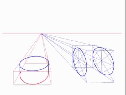 Creating Ellipses And Cylinders In Perspective Youtube