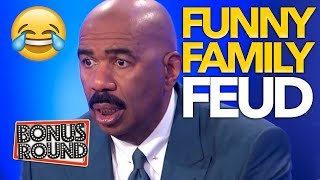 FUNNY FAMILY FEUD Moments With Steve Harvey | Bonus Round