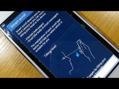 Smart Scroll demo / Set up on Samsung Galaxy S4