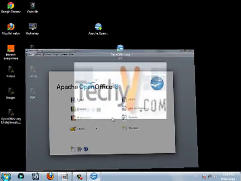 Apache Openoffice explained. Download, installation and use | video by TechyV