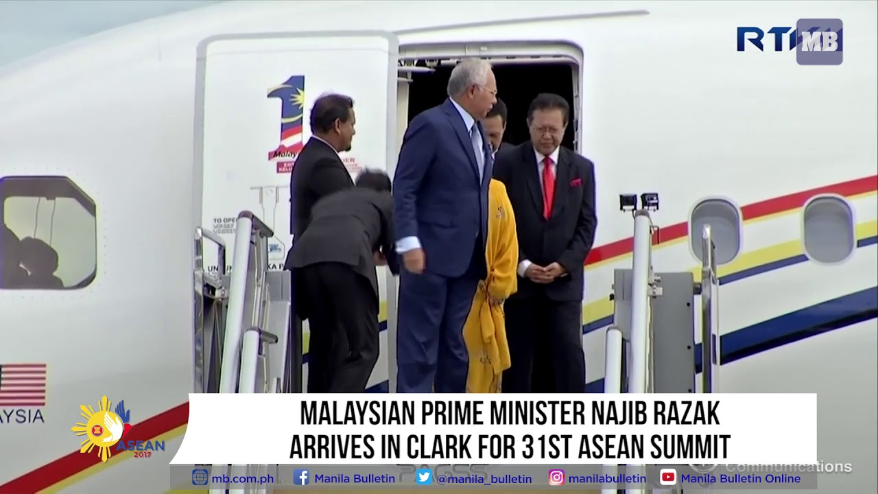 Malaysian Prime Minister Najib Razak arrives in Clark for 31st ASEAN Summit