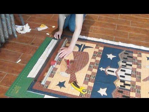Как обрезать излишки сэндвича большого квилта