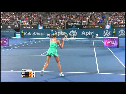 Karolina Pliskova v Petra Kvitova highlights (final) - Apia International Sydney 2015