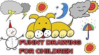 DRAW EASY & FUNNY  DRAWING - (رسم سهل - رسومات مرحة للأطفال )