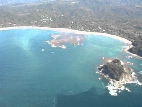 Gyro flight over Samara Costa Rica