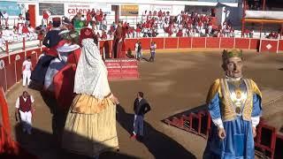 GIGANTADA EN LA PLAZA DE TOROS DE FITERO (NAVARRA) 16- 09- 2017.