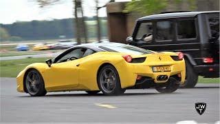 Ferrari 458 Italia's & 458 Spiders in ACTION! LOUD Sounds, Drag Races & More!