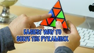 EASIEST WAY TO SOLVE THE PYRAMINX PUZZLE [HIGH QUALITY]