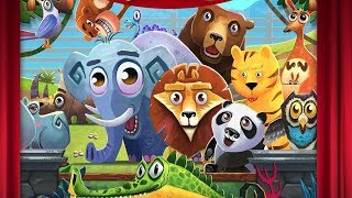 Kids Theater : Zoo Show - Learn Animals Name and Sound - Game for Kids Lion Monkey Elephant