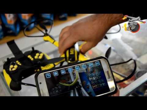 كيفية ربط تلفونك مع الطائرة بكامرة واي فاي  How to connect your phone with wifi camera drone