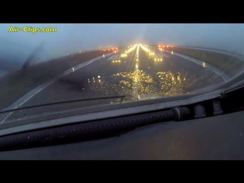 Antonov 225 COCKPIT front-view rain takeoff from Keflavik! [AirClips]