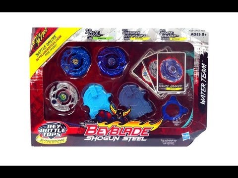 Beyblade Shogun Steel Team Pack Wave 4 Bey Water Team Review  Unboxing  Giveaway  Exp Sep 1st 2013