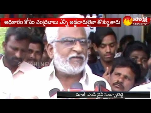 YSRCP Leader YV Subbareddy Slams CM Chandrababu Naidu
