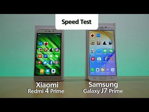 Redmi 4 Prime vs J7 Prime - Speed Test #1