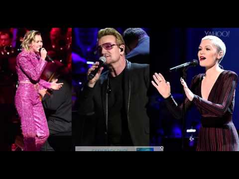 Miley Cyrus Forgets U2 ONE Lyrics in Front of Bono