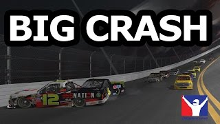iRacing | Big wreck takes out half of the field.