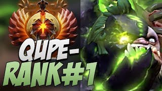 Qupe Pudge - Rank 1 in 7.20 | Dota Gameplay