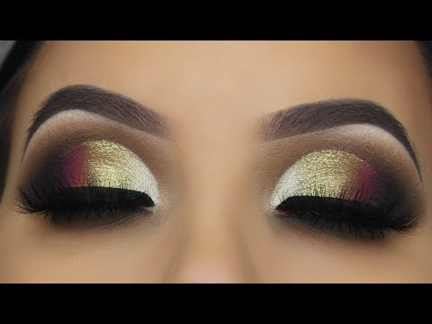 THANKS GIVING MAKEUP (Golden Smokey Cut Crease Tutorial)