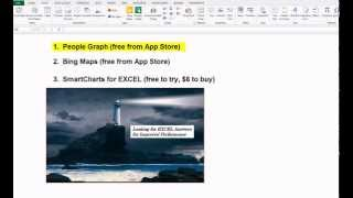 EXCEL Apps  1  How to Use EXCEL People Graph