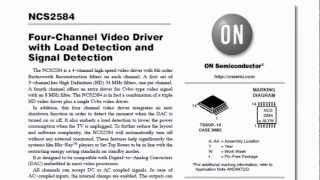 Video Datasheet of the NCS2584 Video Driver IC