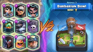 ALL LEGENDARY Deck TROLLING Arena 3! - Clash Royale - *FUNNY MOMENTS AND FAILS* (Drop Trolling #51)