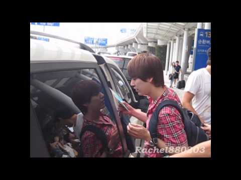 [Fancam]SJM in ICN Airport Back From Taiwan(Kyuhyun Focus)