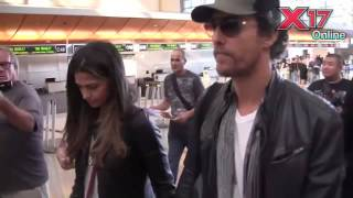 Matthew McConaughey And Camila Alves Hold Hands While Catching Flight Sans Kids