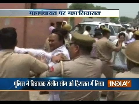 BJP clashes with police in Moradabad, DM injured in stone pelting