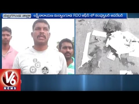 Raod Accident In Nalgonda District | 2 Died | V6 News