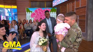 Deployed dad meets his baby daughter for the 1st time on 'GMA' l GMA