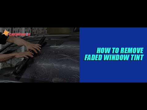 Removing OLD & FADED Window Tint From Your Classic Automobile