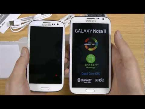 Samsung Galaxy Note 2 Unboxing Video with S3 Size Comparison