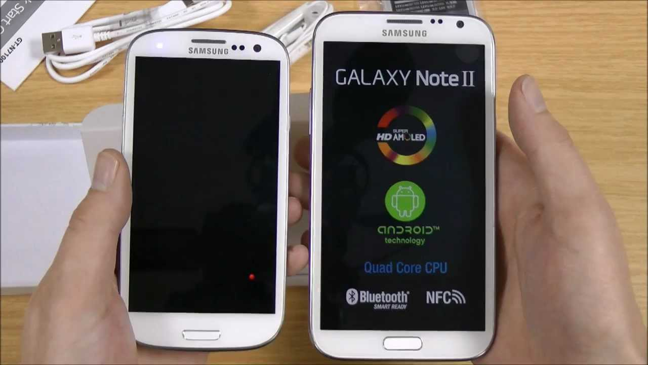 Samsung Galaxy Note 2 vs Samsung Galaxy s3 Samsung Galaxy Note 2 Unboxing
