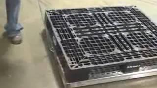Vestil Aluminum Pallet Dolly - 4000-Lb. Capacity, 40in. x 48in., Model# DOL-4048-6T